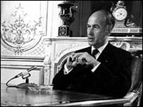 Valery Giscard d'Estaing interviewed on BBC's Panorama programme