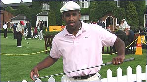 DJ Spoony competed in the Pro Celebrity Golf Challenge at The Belfry