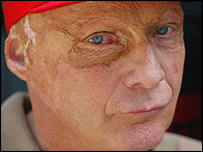 Niki Lauda was badly burned in a fire after a crash in the 1976 German Grand Prix