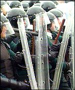 The RUC blocked the march route for two days