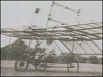 Richard Pearse in his plane in 1903