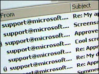 Virus mimics Microsoft e-mail