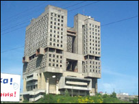 The so-called 'monster' building in Kaliningrad