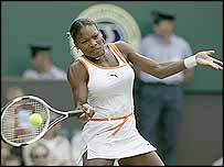 Defending Wimbledon champion Serena Williams