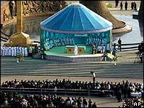 Pope gives open-air mass in Kazakhstan