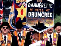 Orangemen march at Drumcree