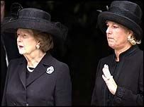 Lady Thatcher and her daughter Carol
