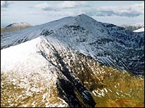 Mount Snowdon in Snowdonia