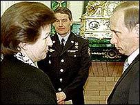 Valentina Tereshkova meets Russia's president Vladimir Putin