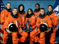 Crew of the space shuttle Columbia, AP