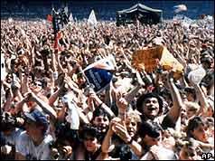 The crowd at Wembley Stadium