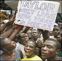 Anti-Taylor demonstrators