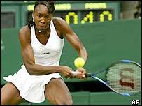 Venus Williams in action against Kim Clijsters