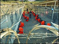 Prisoners at Guantanamo Bay