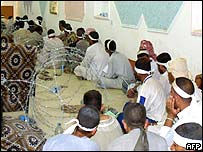 Prisoners await interrogation in Al-Dor city