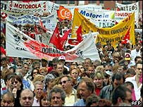 Toulouse protest by French teachers, 2003