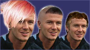 Send us your design for a new haircut for David Beckham and you could win a signed Match of the Day football.