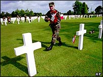 US war graves near Omaha beach