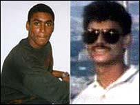 Terror suspects Feroz Abbasi (l) and Moazzam Begg (r)