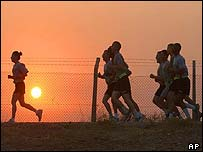 4 July 10km race at Baghdad Airport