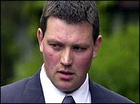 Andrew Osborne arriving at court