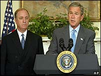 George Bush and Randall Tobias