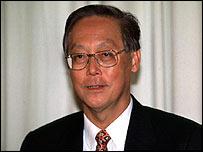 Singapore Prime Minister Goh Chok Tong