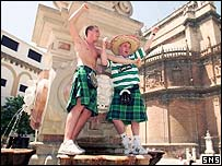 Celtic fans enjoy the Spanish sunshine