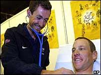 Roberto Heras and Lance Armstrong