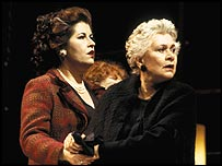 Liza Tarbuck (left) and Joan Plowright in Absolutely (Perhaps)