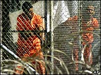 Inmates at Guantanamo Bay