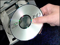 CD going into computer
