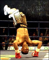 Naseem Hamed plays up to the crowd