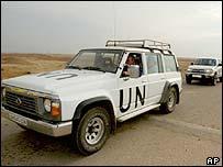 UN vehicle in Iraq