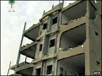 Block of flats destroyed in the Riyadh blast