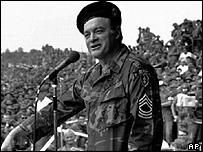 Bob Hope entertaining US troops in Vietnam, 1970