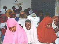 Class of schoolgirls in Somalia