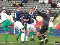 Northern Ireland goalkeeper Tommy Evans was at fault for the second goal