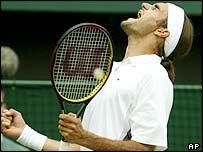 Switzerland's Roger Federer swept past Andy Roddick