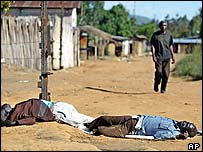 Corpses on the streets of Bunia