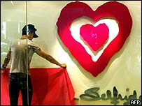 Alteration to shop window in Malaysian capital