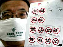 Sars stamps in China