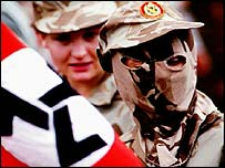 Afrikaans resistance party soldier