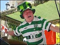 Celtic fan in Seville