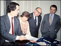Shirley Williams with the other three founders of the Social Democratic Party in 1981