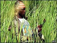 Lendu militiaman near Bunia
