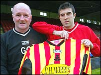 Partick boss Gerry Collins and Eddie Forrest