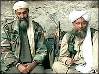 Osama Bin Laden with Ayman al-Zawahiri
