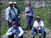 Farmers involved in the Cusichaca Trust project, BBC