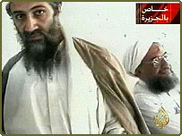Osama Bin Laden and Ayman al-Zawahri in a television image released by Al-Jazeera last October